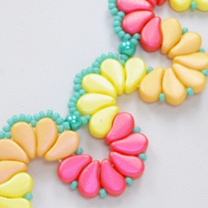 BeadSmith Digital Download Patterns - Paisley Petals Tutti Frutti Necklace