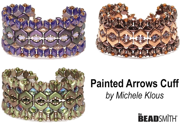 BeadSmith Digital Download Patterns - Painted Arrows Cuff