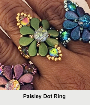 BeadSmith Digital Download Patterns - Paisley Dot Ring