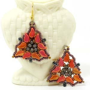 BeadSmith Digital Download Patterns - Paisley Isle Earrings