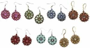 BeadSmith Exclusive Bead Store Patterns - Primrose Earrings