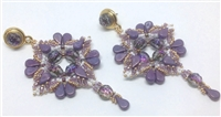 BeadSmith Digital Download Patterns - Purple Rain Earrings