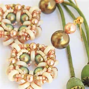BeadSmith Exclusive Bead Store Patterns - Romantic Earrings