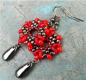 BeadSmith Exclusive Bead Store Patterns - Rosetta Earrings