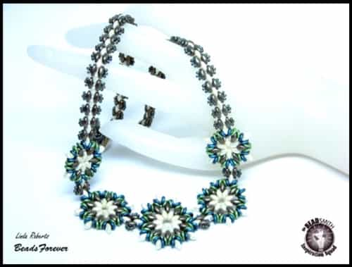 BeadSmith Exclusive Bead Store Patterns - Round About Flower Necklace