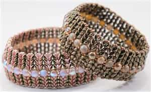 BeadSmith Digital Download Patterns - SuperDuo Honeycomb Bangles