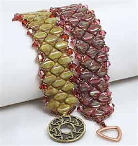 BeadSmith Exclusive Bead Store Patterns - Silky Diamond Bracelet