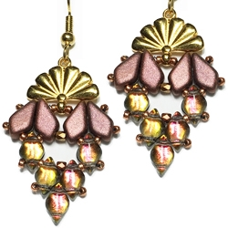 BeadSmith Digital Download Patterns - Sitia Diamond Earrings