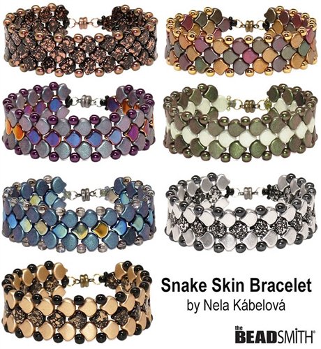BeadSmith Digital Download Patterns - Snake Skin Bracelet