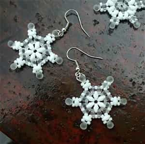 BeadSmith Exclusive Bead Store Patterns - SuperDuo Snowflakes