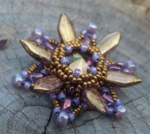 BeadSmith Exclusive Bead Store Patterns - Starburst Pendant