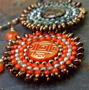 BeadSmith Exclusive Bead Store Patterns - Sun Amulet
