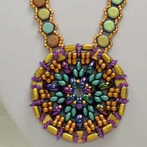 BeadSmith Exclusive Bead Store Patterns - Sun King Pendant