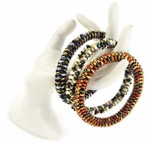 BeadSmith Exclusive Bead Store Patterns - SuperDuo Bangles