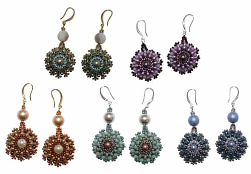 BeadSmith Exclusive Bead Store Patterns - Trifinity Earrings