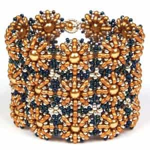 BeadSmith Exclusive Bead Store Patterns - Trinity Cuff