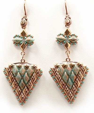 BeadSmith Digital Download Patterns - Vani Splash Earrings