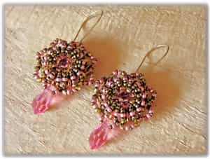 BeadSmith Exclusive Bead Store Patterns - Wheel of Fortune Earrings
