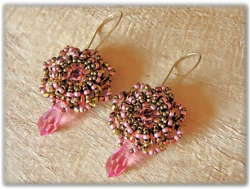 BeadSmith Digital Download Patterns - Wheel of Fortune Earrings