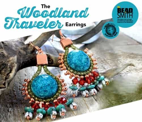 BeadSmith Exclusive Bead Store Patterns - The Woodland Travelers Earrings