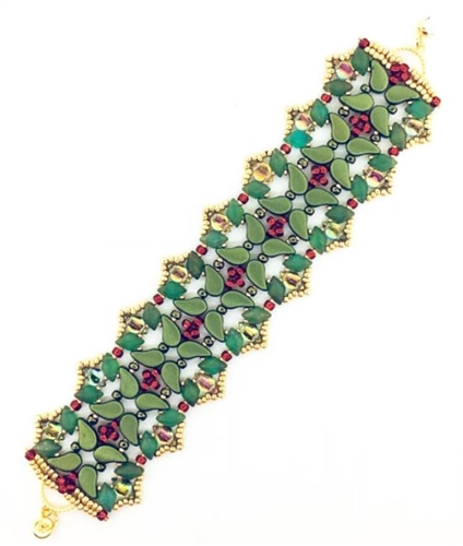 BeadSmith Digital Download Patterns - Yule Garland Bracelet