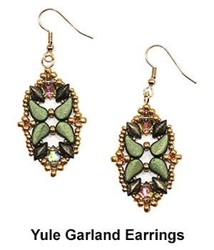 BeadSmith Digital Download Patterns - Yule Garland Earrings
