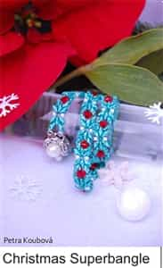 All Beads CZ Exclusive Bead Store Patterns - Christmas Superbangle