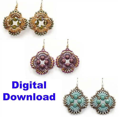 Miyuki Digital Download Quarter Tila Earrings Pattern