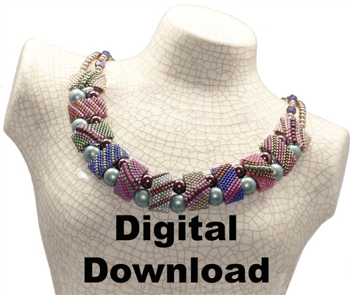 Red Panda Beads Originals Patterns - Caterpillar CarrierDuo Necklace