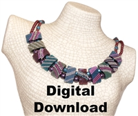 Red Panda Beads Originals Patterns - Dusty Cornflower CarrierDuo Necklace