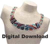 Red Panda Beads Originals Patterns - Netted Pearl CarrierDuo Necklace