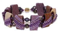 Red Panda Beads Originals Patterns - Ultra Violet Monday CarrierDuo Bracelet