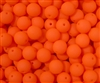 Neon Druk Beads 6mm: DK6-BNOR - Neon Orange - 25 Beads