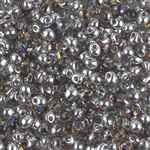 Miyuki Drop/Frings Seed Beads 3.4mm DP-4554 - Crystal/Heliotrope - 10 Grams