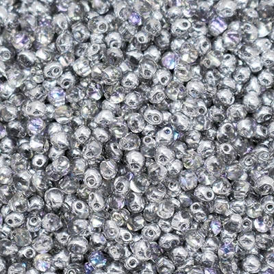 Miyuki Drop/Frings Seed Beads 3.4mm DP-4574 - Crystal Vitrail Light - 10 Grams