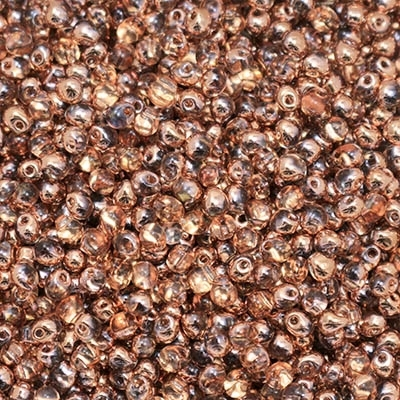 Miyuki Drop/Frings Seed Beads 3.4mm DP-55007 - Crysal Capri Gold - 10 Grams