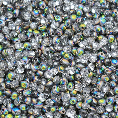 Miyuki Drop/Frings Seed Beads 3.4mm DP-55008 - Crystal Vitrail - 10 Grams