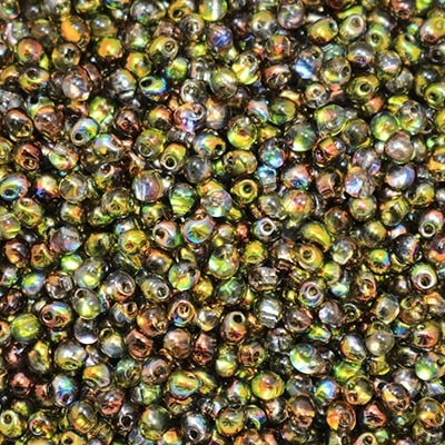 Miyuki Drop/Frings Seed Beads 3.4mm DP-55014 - Magic Green - 10 Grams