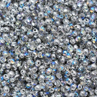 Miyuki Drop/Frings Seed Beads 3.4mm DP-55017 - Crystal Silver Rainbow - 10 Grams