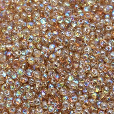 Miyuki Drop/Frings Seed Beads 3.4mm DP-55019 - Crystal Brown Rainbow - 10 Grams