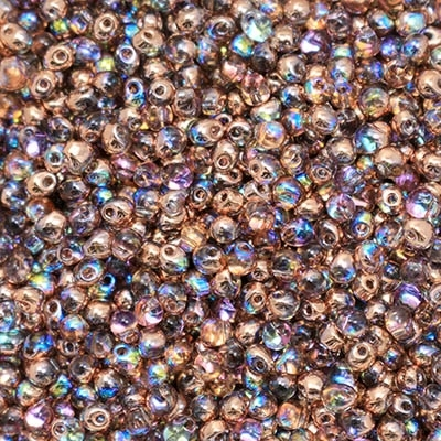 Miyuki Drop/Frings Seed Beads 3.4mm DP-55020 - Crystal Copper Rainbow - 10 Grams