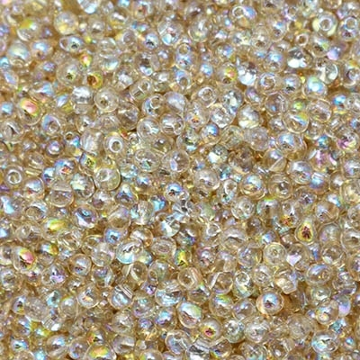 Miyuki Drop/Frings Seed Beads 3.4mm DP-55021 - Crystal Lemon Rainbow - 10 Grams