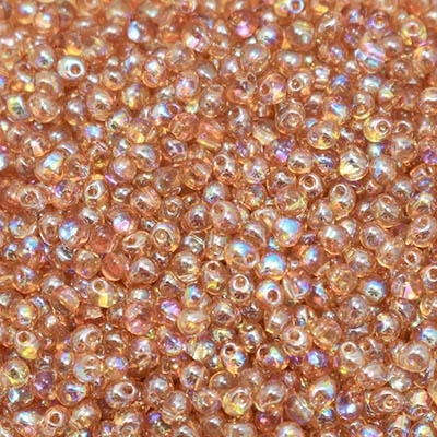 Miyuki Drop/Frings Seed Beads 3.4mm DP-55022 - Crystal Orange Rainbow - 10 Grams