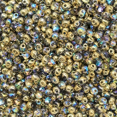 Miyuki Drop/Frings Seed Beads 3.4mm DP-55023 - Crystal Golden Rainbow - 10 Grams