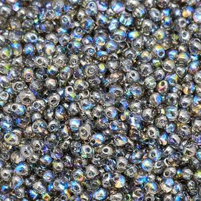 Miyuki Drop/Frings Seed Beads 3.4mm DP-55024 - Crystal Graphite Rainbow - 10 Grams