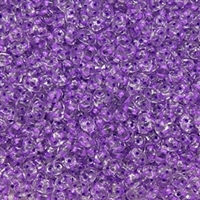 DU0500030-44829 - SuperDuo 2.5X5mm Crystal Purple Dark Lined- 8 Grams