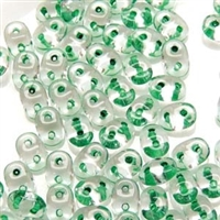 DU0500030-44856 - SuperDuo 2.5X5mm Crystal Green Lined - 8 Grams