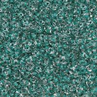DU0500030-44859 - SuperDuo 2.5X5mm Crystal Dark Green Lined - 8 Grams