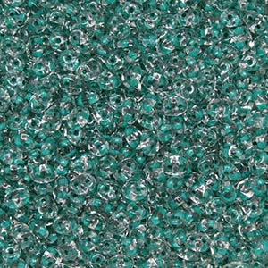 44859 >> Du0500030 44859 Superduo 2 5x5mm Crystal Dark Green Lined 8 Grams