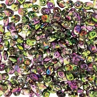 DU0500030-95000 - SuperDuo 2.5X5mm Crystal Magic Violet-Green - 8 Grams